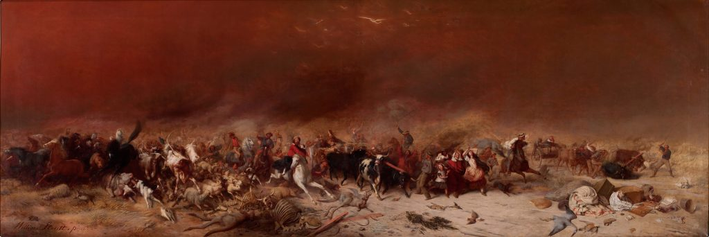 black thursday 1851 painting